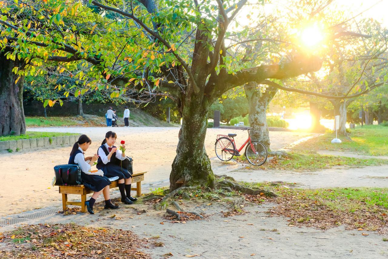 Fukuoka đẹp lãng mạn khoảnh khắc chuyển mùa sang thu - ảnh 1