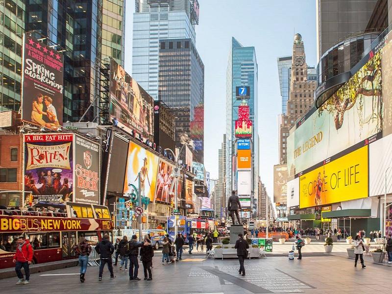 Tìm hiểu những điều hấp dẫn nào đang chờ bạn ở Times Square Quảng trường Thời đại - ảnh 1