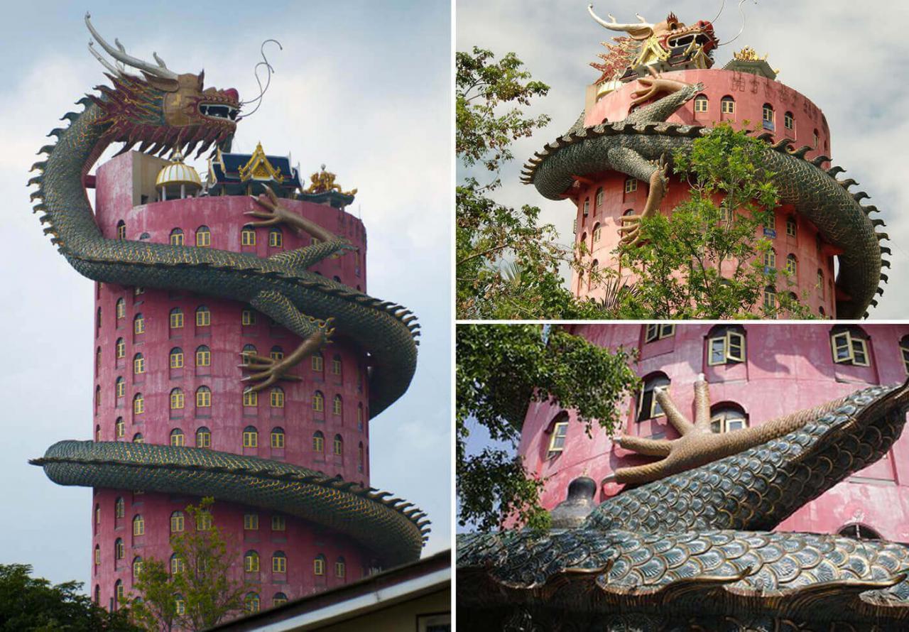 Đằng sau kiến trúc độc đáo về chùa Wat Samphran Thái Lan - ảnh 1