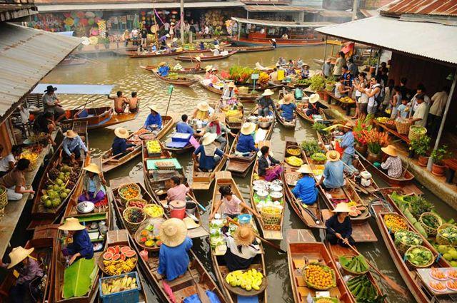 Khám phá những khu chợ nổi Bangkok Thái Lan đẹp & hấp dẫn - ảnh 1